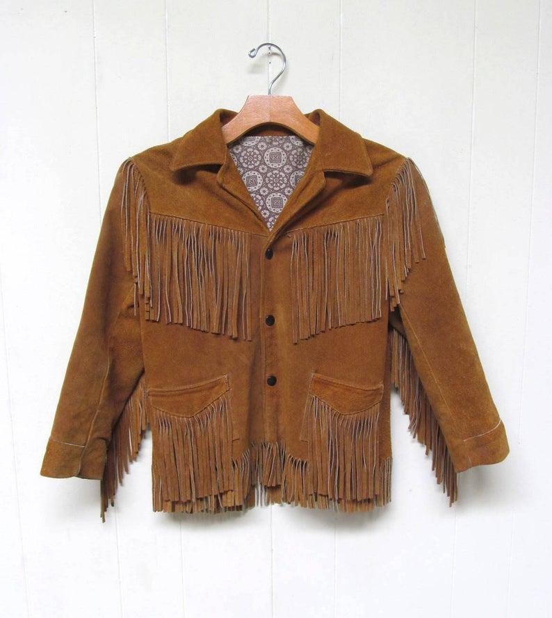 Vintage 1950s Children's Jo-o-Kay Fringed Western Jacket