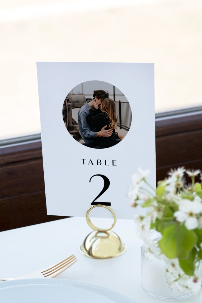 WILLOW  Photo Table Numbers for Wedding Template Picture