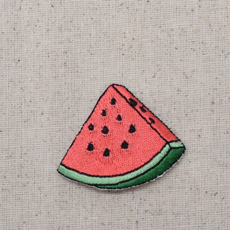 Watermelon Slice  Pink  Fruit  Iron on Applique