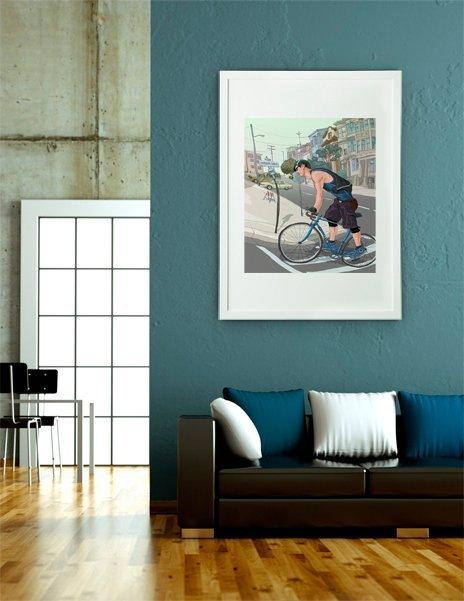 city traveler 2, Fine Art Print by Wonman Kim