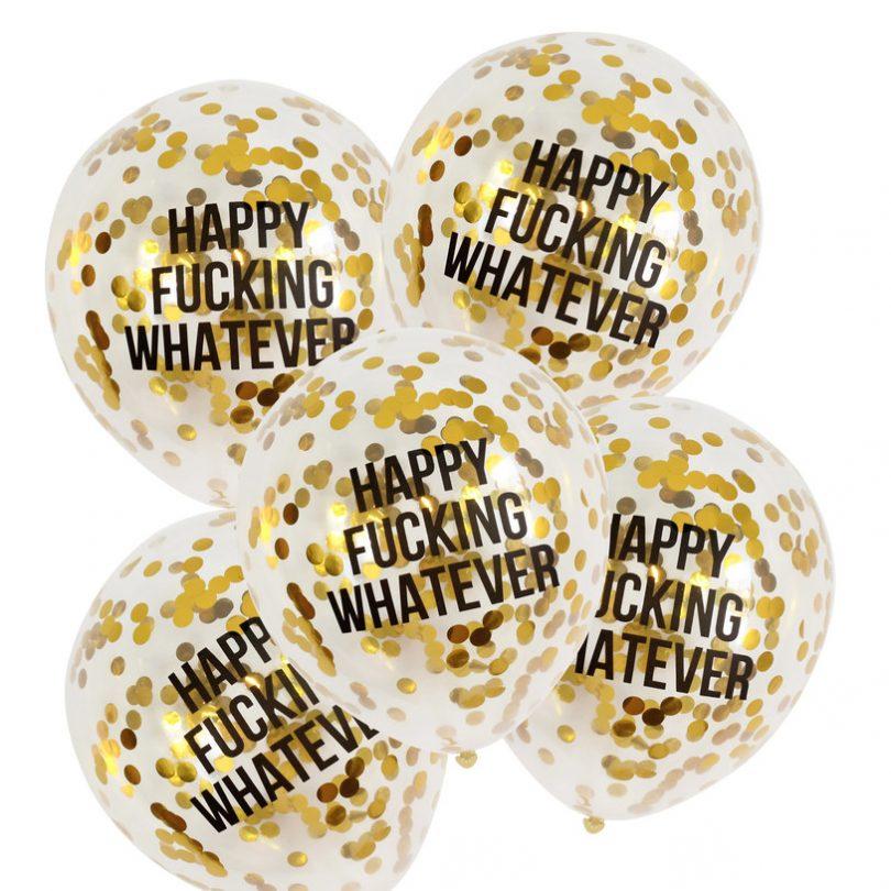 Abusive Confetti Balloons