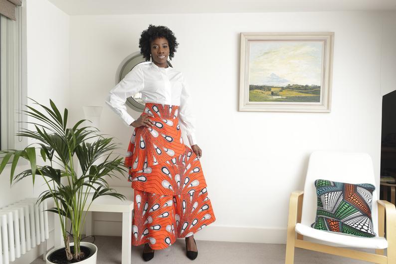 African maxi skirt African fabric skirt African print maxi