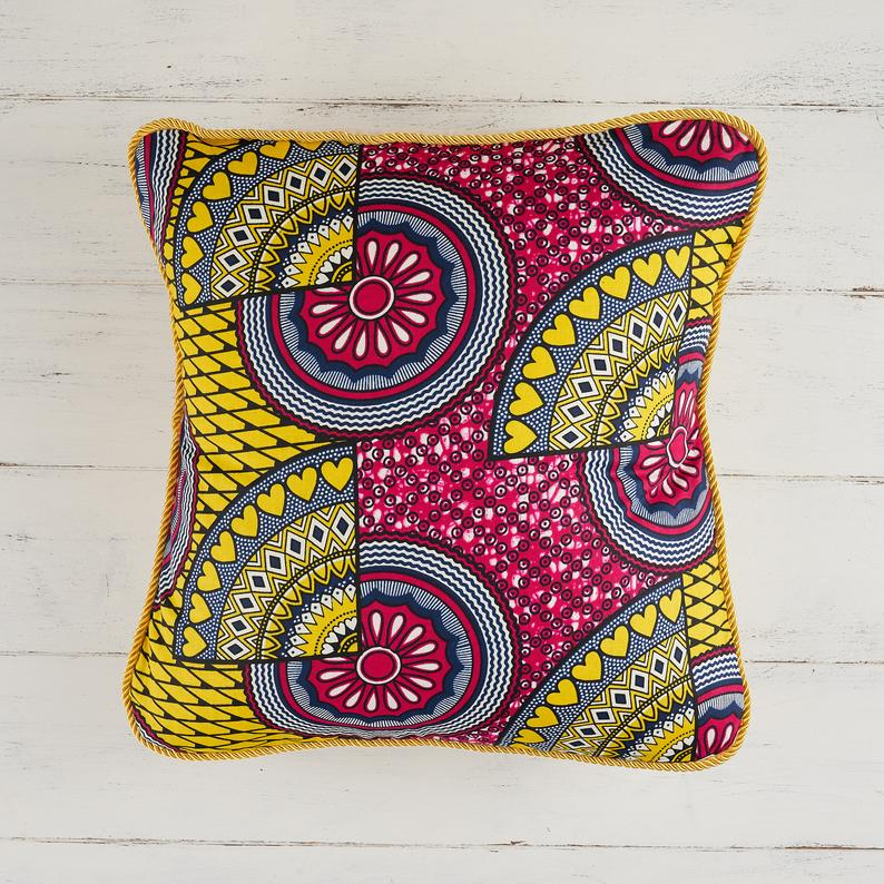 African print pillow cover colour block pillow Decorative