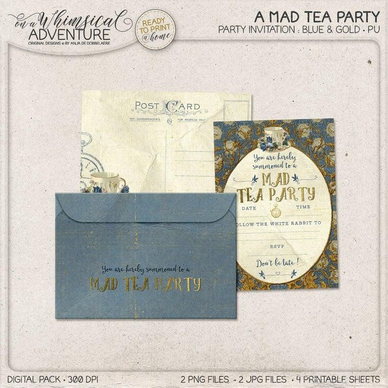Alice In Wonderland Tea Party Invitation Mad Tea Party Ideas