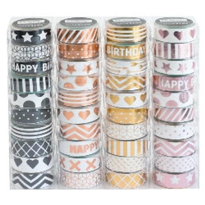 Artebene Luxury Metallic Washi Tape For Home Crafting DIY