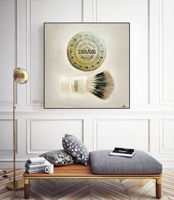 """""""Bearded Brush"""" Art Block Framed by Giant Art"""