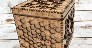 Bee Box  a unique box featuring an intricate honeycomb and