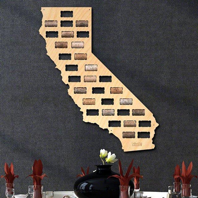 California Wine Cork Map