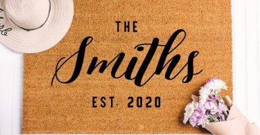 Closing Gift Idea Personalized Last Name Doormat Custom