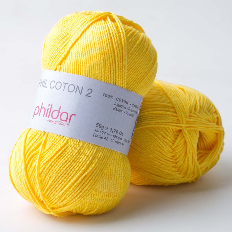 Cotton crochet yarn  Sport weight knitting yarn  Amigurumi