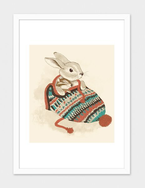 Cozy Chipmunk – Numbered Art Print by Laura Graves from Curioos