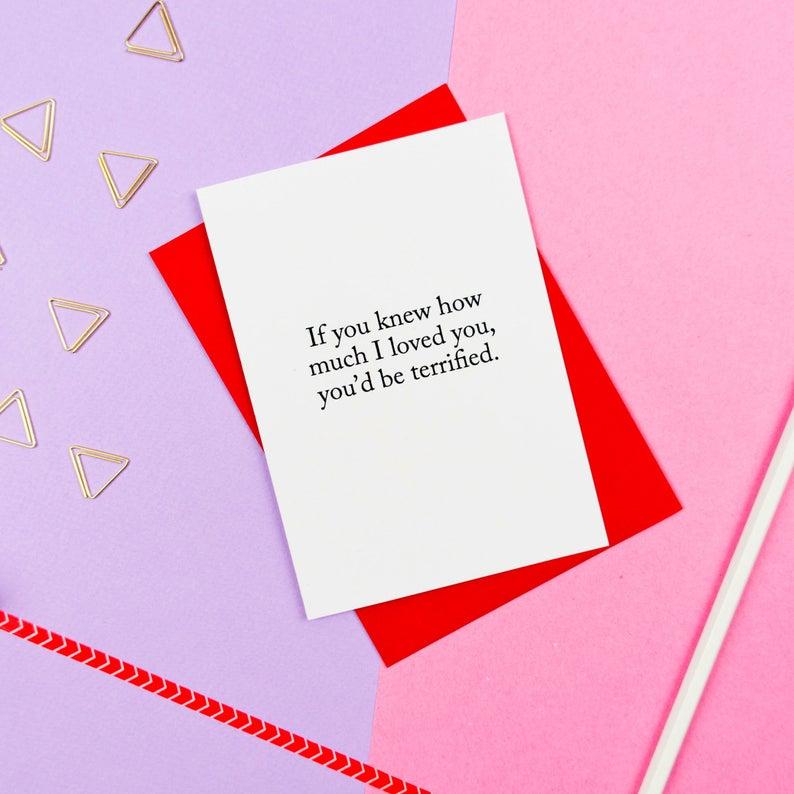 Creepy Valentine Card / Funny Valentines Day Card / I Love You