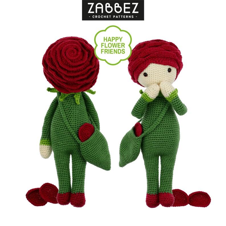 Crochet pattern amigurumi doll Rose Roxy PDF