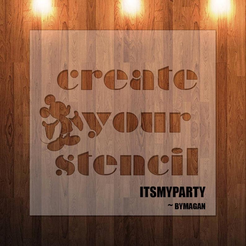 Custom Stencil DIY Stencil Create Your  Own Stencil Custom
