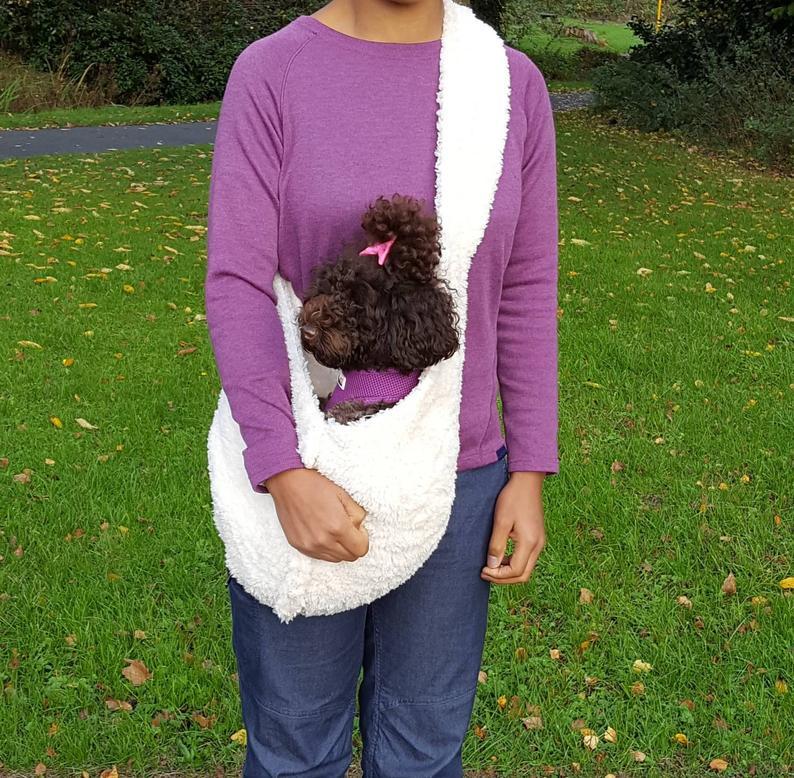Dog Carrier. Customised Dog Sling. Dog Papoose. Dog Teddy Bear