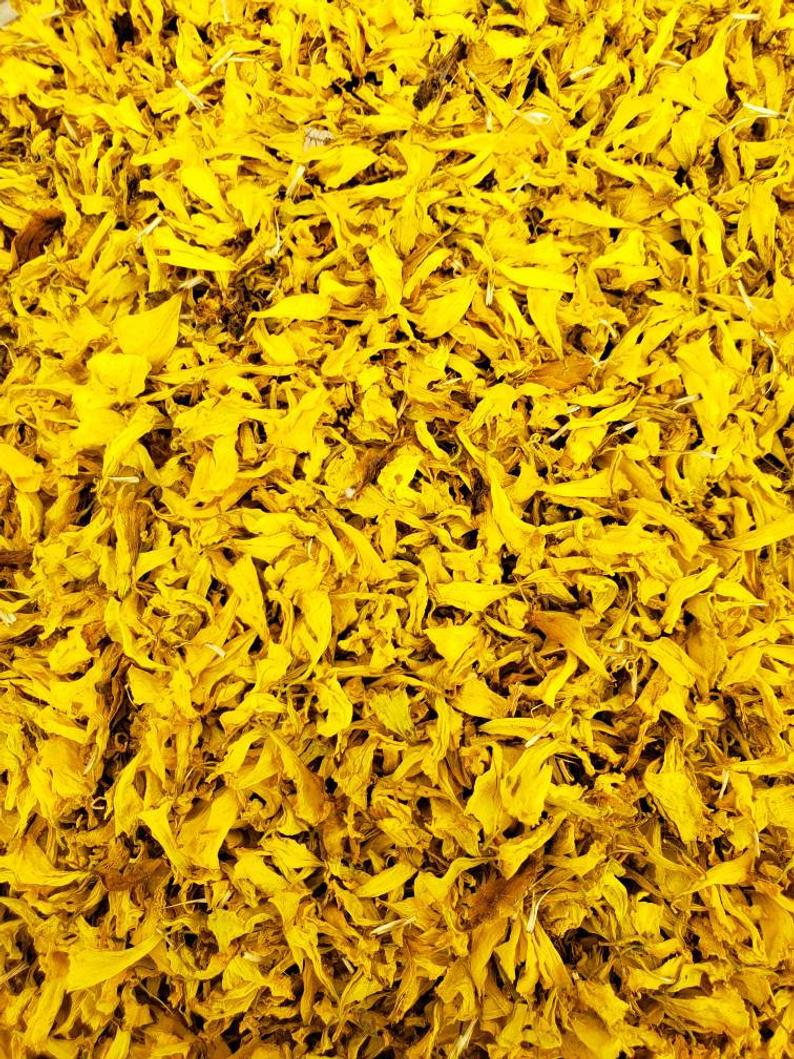 Dried Yellow Marigold Petals