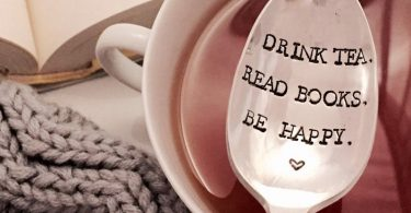 Drink Tea Read Books Be Happy tea lover gift book lover