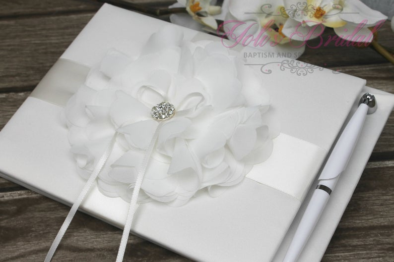 FAST SHIPPING Guest Book Ivory Guest Book Off White Guest