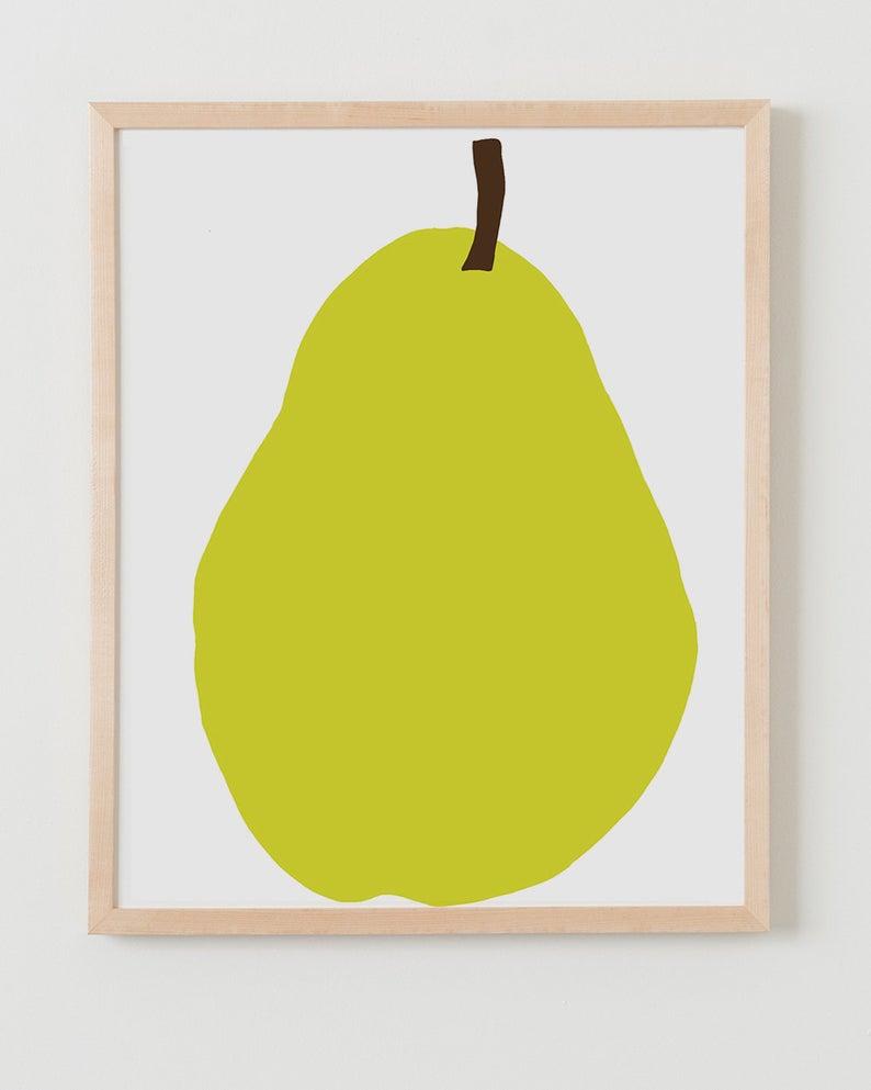 Fine Art Print.  Bartlett Pear.  December 12 2012.