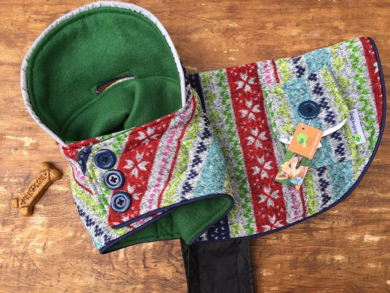 Fleece dog coat for boy for girl sublimebirdy xs small