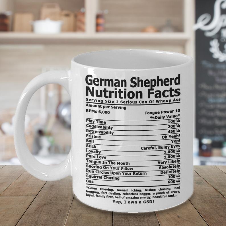 German Shepherd Nutrition Coffee mug  Coffee cup German