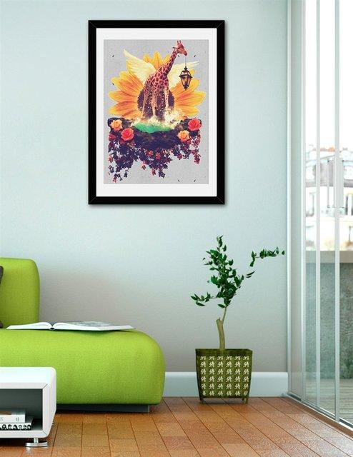 Girafflower., Fine Art Print by Eleaxart