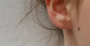 Gold Ear Climber  Dainty Hammered Ear Crawler In Gold Or