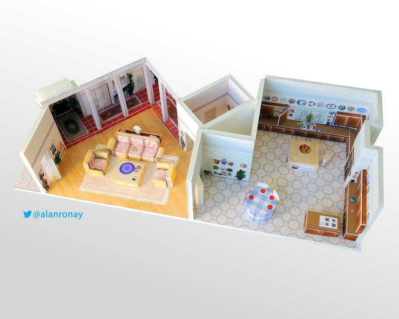 House Scale Model 6151 Richmond Street Playset