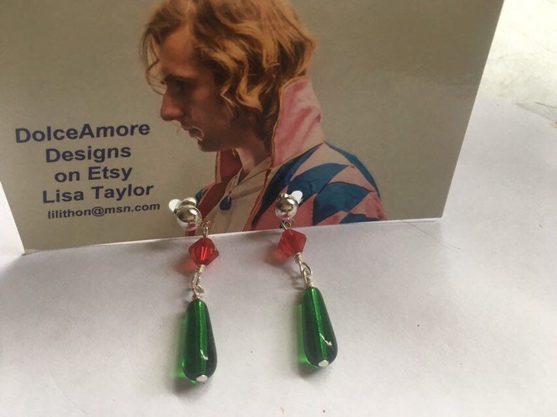 Howl's Moving Castle Earrings in Silver Plate One Pair
