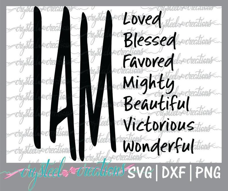 I Am SVG file Christian svg PNG DXF T-shirt Design file