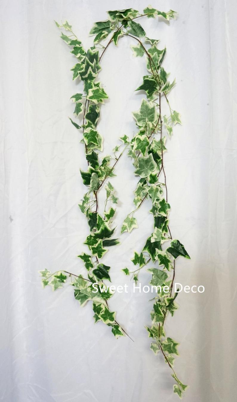 JennysFloweShop 6'L Silk Ivy Artificial Garland Greener
