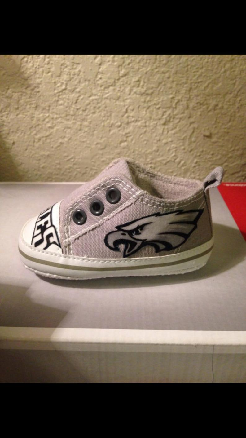 Loley pops creation Eagles baby shoes  this creation is made