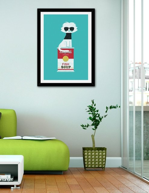 Mark – the cat who loves Andy, Fine Art Print by Budi Satria Kwan