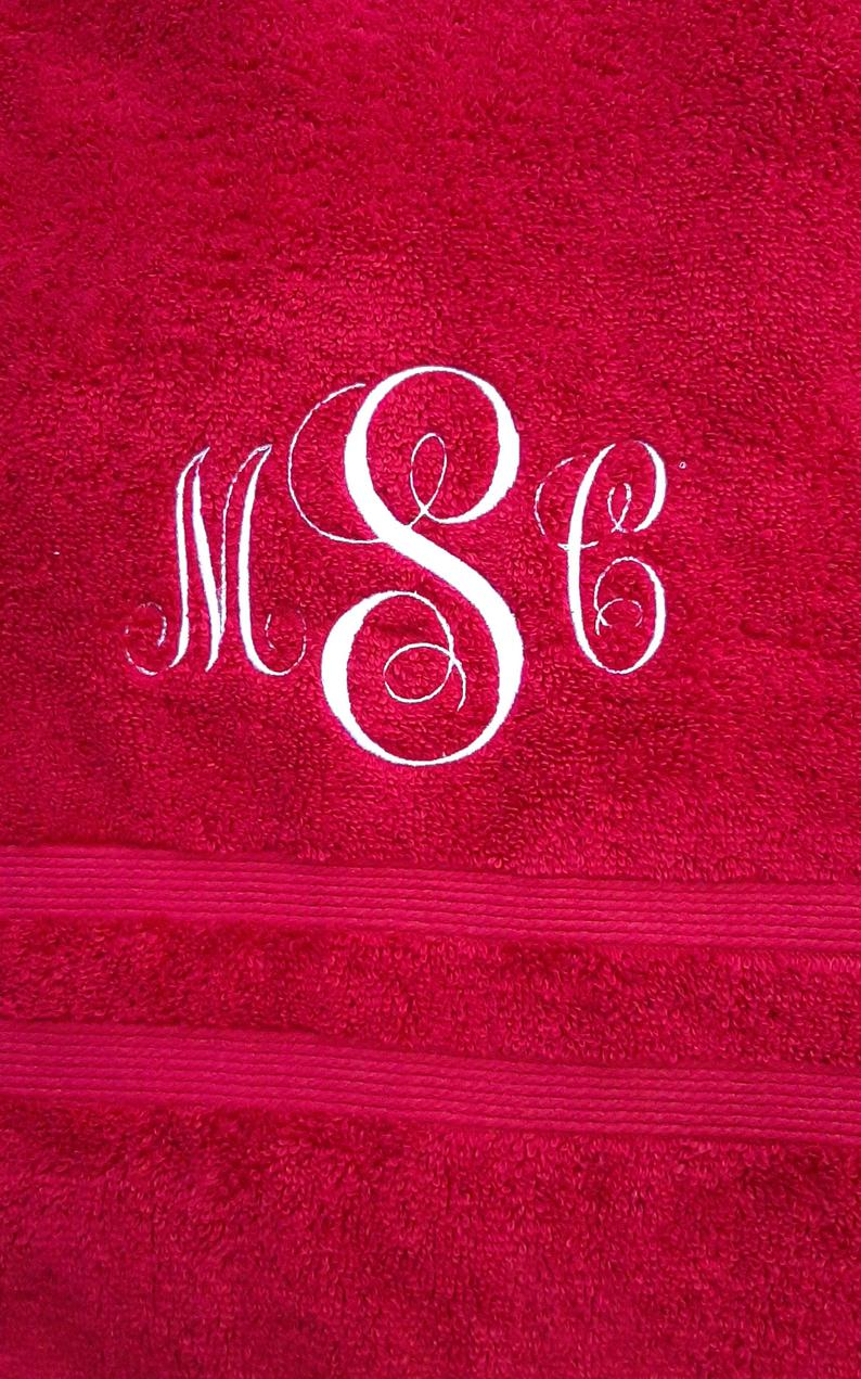Monogrammed Hand Towel  Ultimate Hand Towel  Fast Shipping