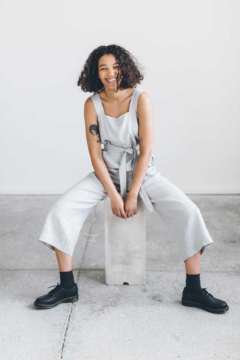 Naomi jumpsuit / Linen jumpsuit/ Oversized jumpsuit/ Summer