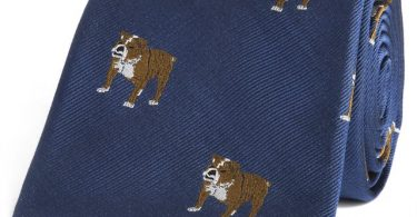 Navy Bulldog Tie by Sir Jack's