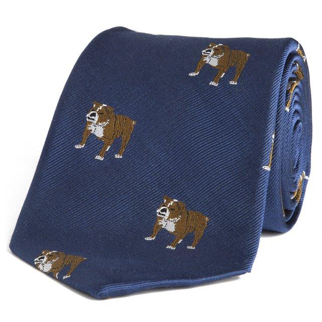 Navy Bulldog Tie by Sir Jack's