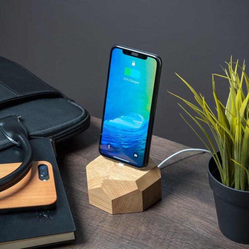 Nerd tech Geek gift ideas Gift for him her Phone Dock Stand