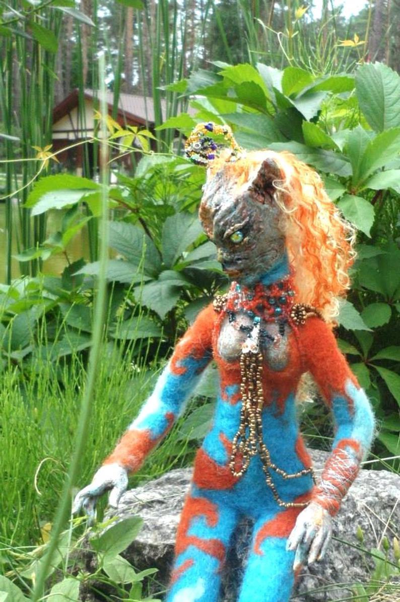OOAK  author's doll   Art   alien doll