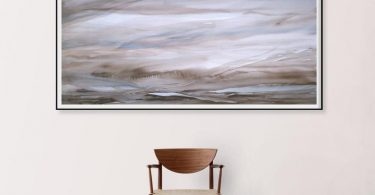 ORIGINAL Abstract Landscape Painting Horizontal Wall Art Extra