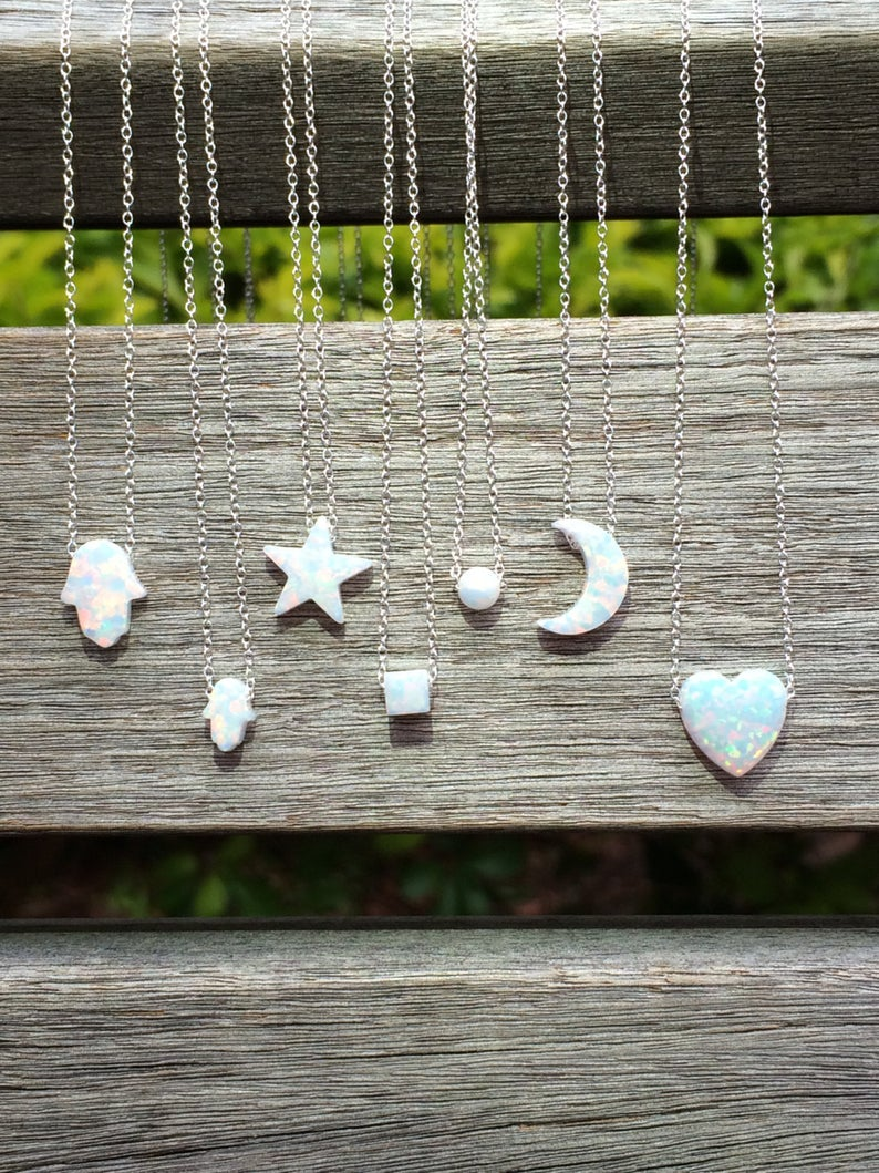 Opal Necklaces 8 Chain Lengths and 2 Chain Styles to choose