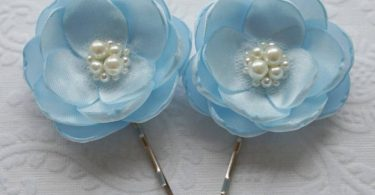 Pale blue hair flower hair flower hair clip light blue hair