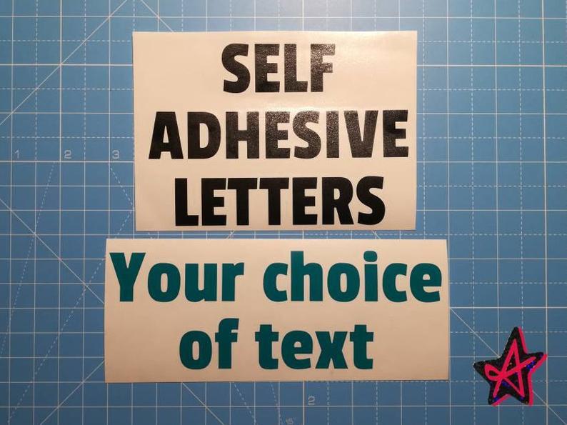 Personalised self-adhesive vinyl letter stickers  Custom
