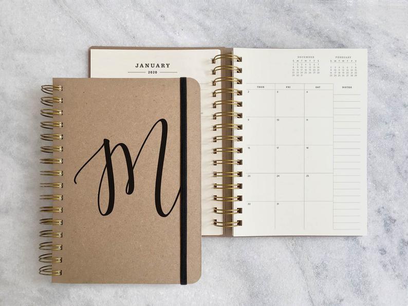 Personalized 2020 planner  custom planner 2020-2021  weekly