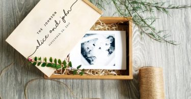 Personalized Wedding Photo Box Engraved Wedding Photo Memory