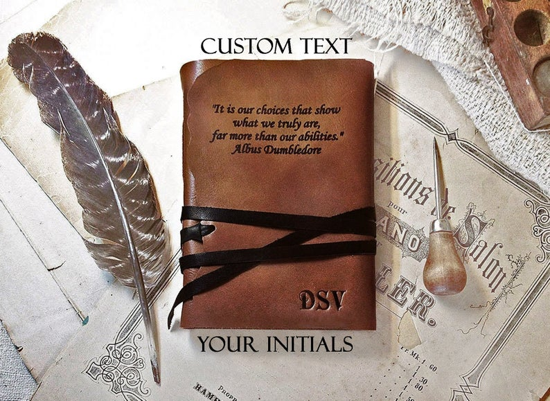 Personalized leather journal large personalized journal