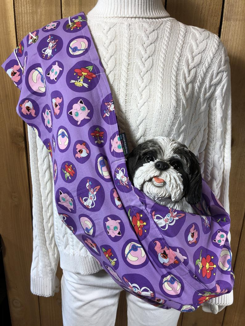 Pet Carrier Pet Sling Pokemon  Pet Pouch Handcrafted Dog