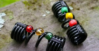 Rasta Dread Bead One Simple Bead Dreadlock Bead Loc Bead