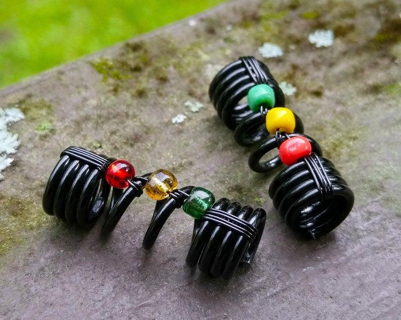 Rasta Dread Bead One Simple Bead Dreadlock Bead Loc Bead
