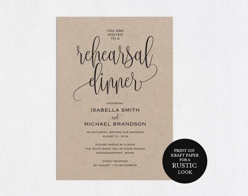 Rehearsal Dinner Invitations Rehearsal Dinner Favors Invite